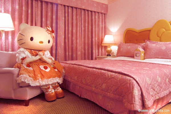 Grand Hi Lai Hotel in Taiwan Das Hello Kitty Hotel  ~ Tapetes Quarto Hello Kitty
